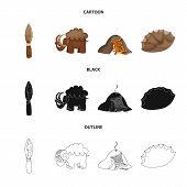 Vector design of evolution  and prehistory sign. Set of evolution  and development  stock vector illustration. poster