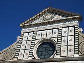 The facade of Santa Maria Novella - Florence poster
