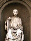Statue of the famous architect Arnolfo di Cambio- Florence. Arnolfo di Cambio 1240 - 1300 was an Italian architect and sculptor. poster