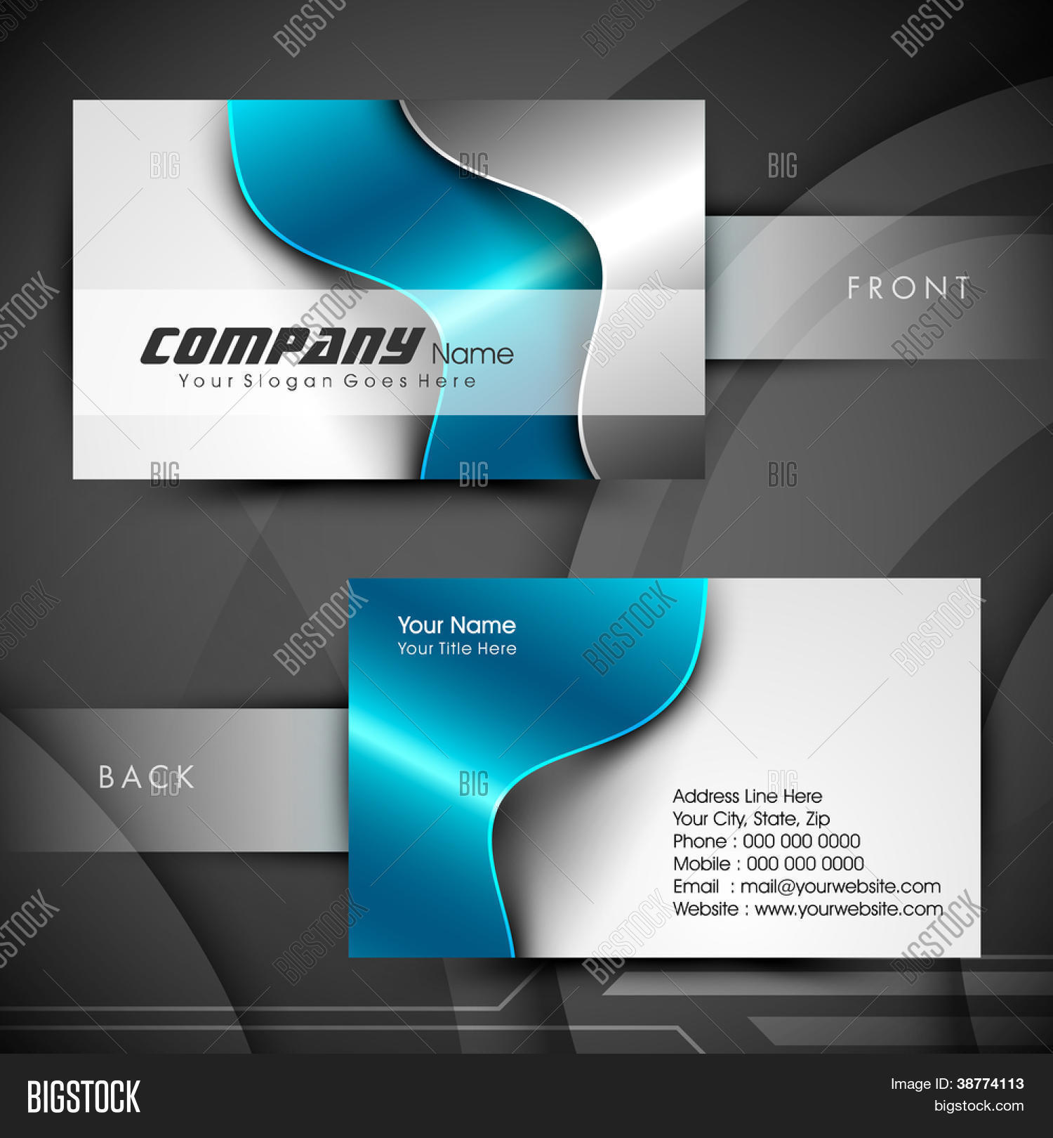 Professional designer vector photo free trial bigstock professional and designer business card set or visiting card set eps 10 reheart Image collections