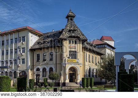 Targu-jiu, Romania-september 25: Raiffeisen Bank Headquarters On September 25, 2020 In Targu-jiu.