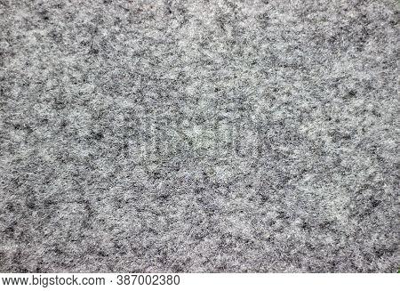 Carpet Close-up. Black-white Carpet Close-up. Noisy Woolen Background. Woolen Texture.