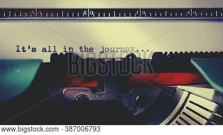 Black Typewriter Machine Typing Life's Quote