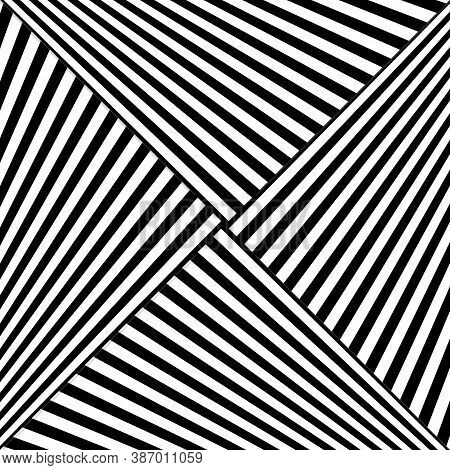 Diagonal Striped Illustration. Repeated White Slanted Lines On Black Background. Surface Pattern Des