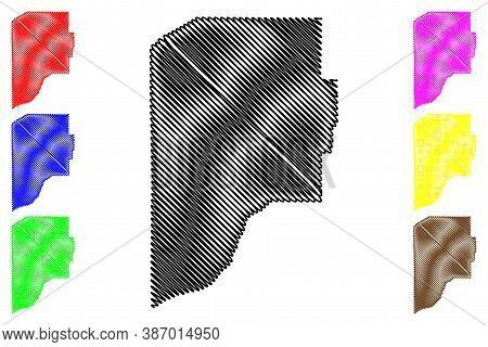 Laporte County, Indiana (u.s. County, United States Of America, Usa, U.s., Us) Map Vector Illustrati