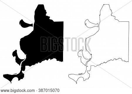Adams County, Mississippi (u.s. County, United States Of America, Usa, U.s., Us) Map Vector Illustra