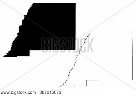 Attala County, Mississippi (u.s. County, United States Of America, Usa, U.s., Us) Map Vector Illustr