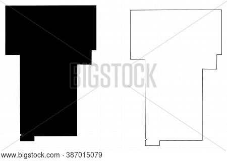 Benton County, Mississippi (u.s. County, United States Of America, Usa, U.s., Us) Map Vector Illustr