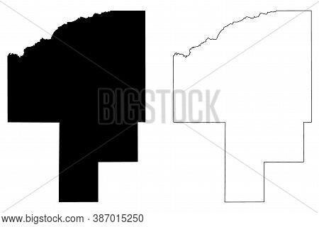 Choctaw County, Mississippi (u.s. County, United States Of America, Usa, U.s., Us) Map Vector Illust