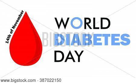 14th Of November World Diabetes Day Blood Drop