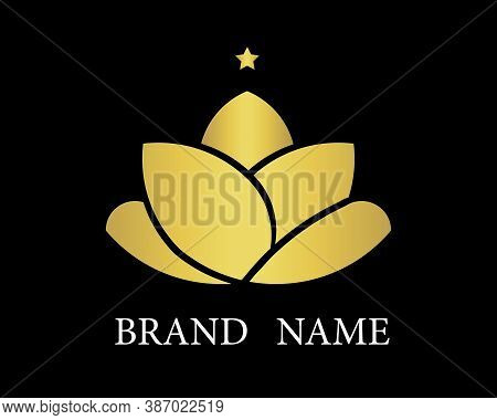 This Logo Is Suitable For Companies That Prioritize Luxury In Their Products And Services. The Lotus