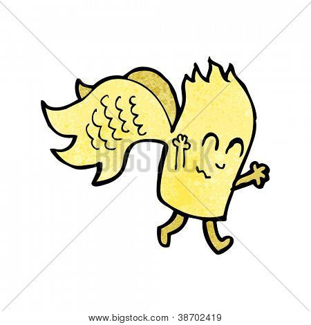 magical creature vector cartoon with texture poster