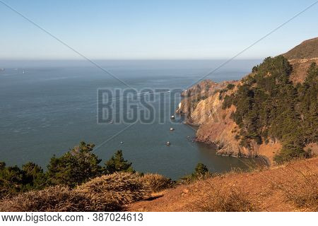 Kirby Cove Beach, California, Usa, In San Francisco's Marin Headlands Recreation Area On A Sunny Clo