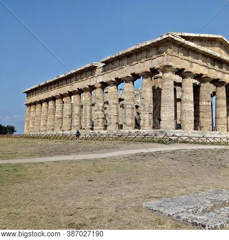 Second Temple Of Hera In Paestum, Campania, Italy