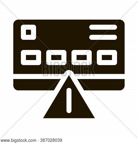 Credit Card Hacking Glyph Icon Vector. Credit Card Hacking Sign. Isolated Symbol Illustration