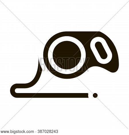 Hand Leash Glyph Icon Vector. Hand Leash Sign. Isolated Symbol Illustration