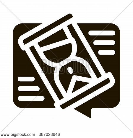 Lengthy Negotiations Glyph Icon Vector. Lengthy Negotiations Sign. Isolated Symbol Illustration
