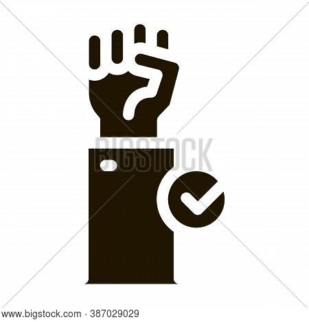 Cast Vote Glyph Icon Vector. Cast Vote Sign. Isolated Symbol Illustration