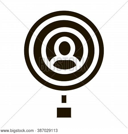 Inspection Of Voter Glyph Icon Vector. Inspection Of Voter Sign. Isolated Symbol Illustration