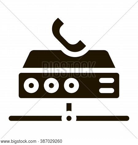 Digital Telecommunications Glyph Icon Vector. Digital Telecommunications Sign. Isolated Symbol Illus