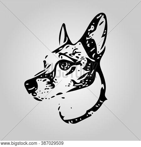 Portrait Of A Jack Russell Terrier, Modern Vector Illustration
