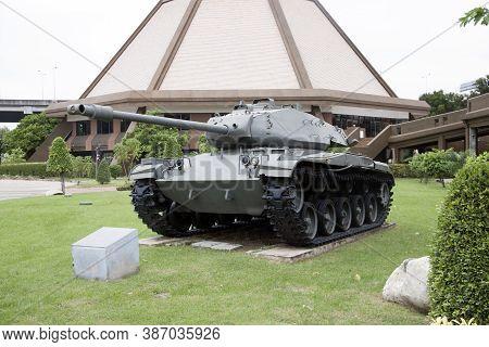 Lam Luk Ka, Pathumthani,thailand November 5, 2017: Decommission Tank Of Thai Army Place Outdoor At N