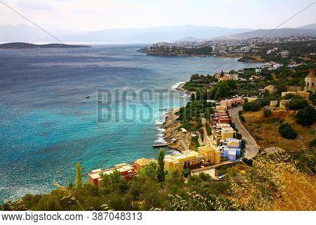 Picturesque Seascape Of Crete Island In Greece