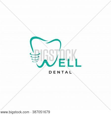 A Modern, Simple Yet Very Unique Logo, Wordmark Letter W And Teeth. Eps10, Vector.