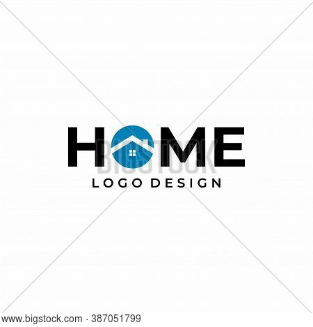Modern And Clean Wordmark Logo, About Home And Real Estate. Eps 10, Vector.