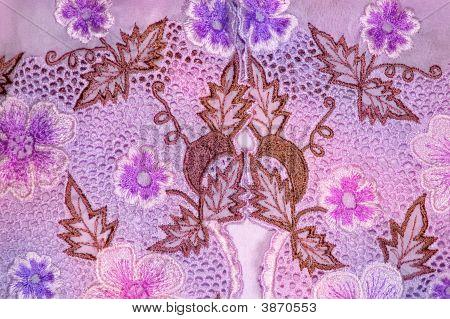 Kebaya Floral roxo