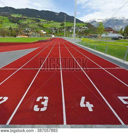 The Modern Red Running Tracks In Switzerland