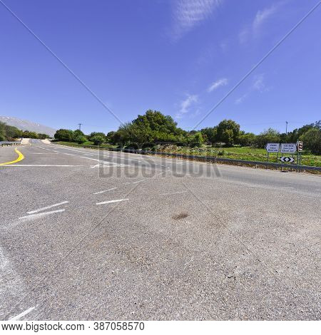 The Asphalt Road In The Golan Heights