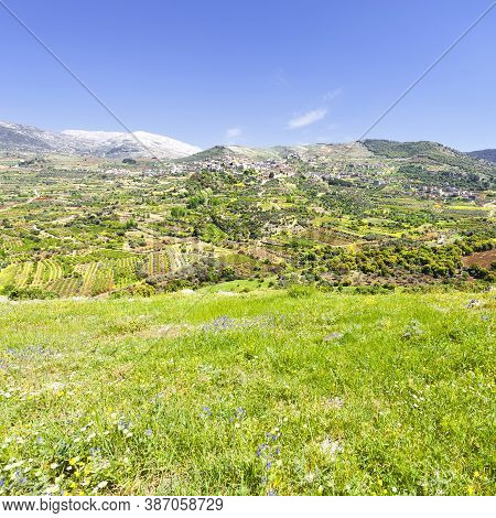 View Of The Druze Town On The Golan Heights