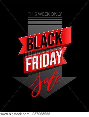 Black Friday Lettering. Ad, Poster, Sign Board Design Layout. Black Friday Sale Inscription