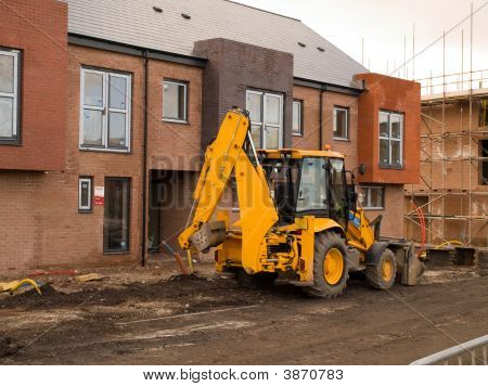 Jcb Digger At Construction Site