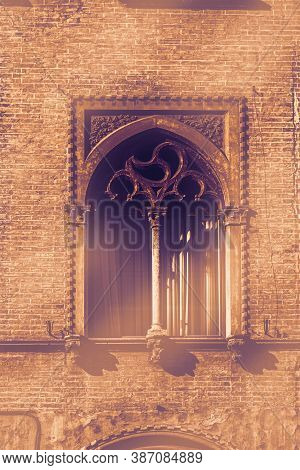 Italian Windows Are New And Old Horizons Of Beauty, Functionality And Performance At Dawn In A Conte