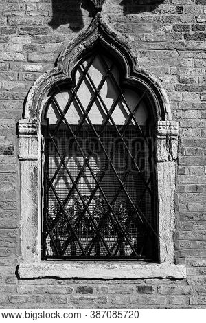 Italian Windows Are New And Old Horizons Of Beauty, Functionality And Performance  In Black And Whit