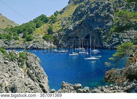 Cliffs Of Sa Calobra Near Torrent De Pareis, Mallorca, Balearic Island