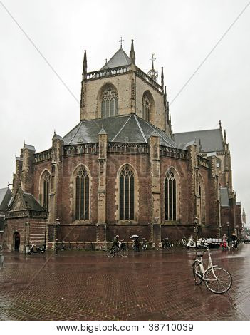 Medieval church St. Bavo in Haarlem the Netherlands