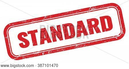 Standard Red Grungy Vintage Rectangle Stamp Sign.
