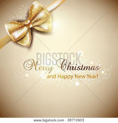 Elegante Weihnachten Hintergrund mit goldenen Bogen. Vektor-Hintergrund