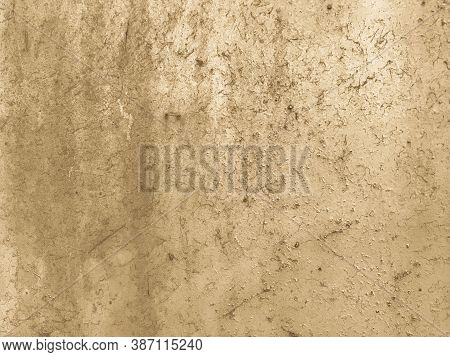 Texture Of Gold Color. Bright, Glossy Surface. On The Texture Of Scuffs, Paint Damage. Glue Texture,