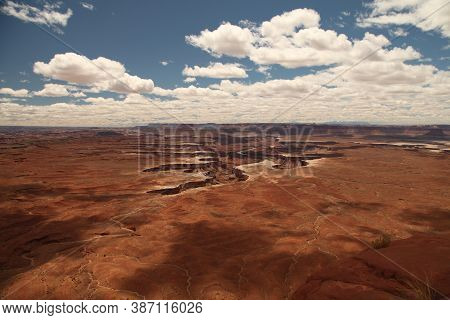 Expansive View From Green River Overlook In Canyonlands National Park, Utah