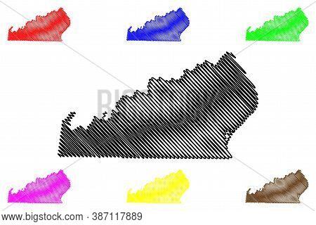 Ohio County, Indiana (u.s. County, United States Of America, Usa, U.s., Us) Map Vector Illustration,