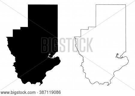 Hancock County, Mississippi (u.s. County, United States Of America, Usa, U.s., Us) Map Vector Illust