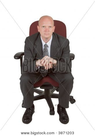 Intense  Businessman