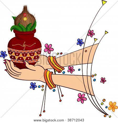 Women Holding Mangal Kalesha