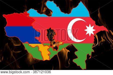 War. Conflict Between Armenia And Azerbaijan Over Nagorno-karabakh. Let's Stop The War.