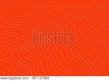 Abstract Seamless Pattern With Stylized Salmon Fish Fillet Linear