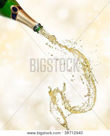 Celebration theme on shiny blur background